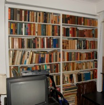 Bookshelves, crop before