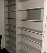 Bookshelves, before and after