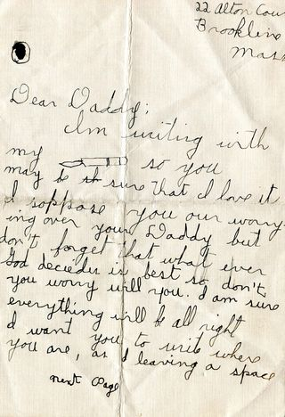 Charlotte shapiro's letter to daddy045