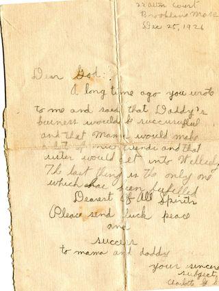 Charlotte shapiro's letter to God 046